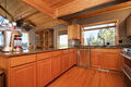 Soaring ceilings frame the mt & sound view