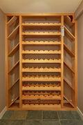Lower kitchen and wine cellar